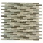 1/2 X 2 Glass Tile Mini Brick Stick Mosaic - CV050 Olive Blend * SAMPLE *