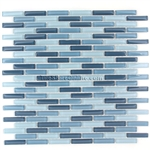 1/2 X 2 Glass Tile Mini Brick Stick Mosaic - CV056 Blue Blend * SAMPLE *