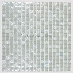 Glass Tile - 5/8 X 5/8 Glass Tile Mosaic - DGW001 Clear Rippled Glossy Mix - Iridescent