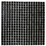 Glass Tile - 5/8 X 5/8 Glass Tile Mosaic - JDN003-3 Glossy Black - Iridescent