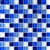 Glass Tile - 1X1 Glass Tile Mosaic - SD030 Electric Blue Blend - Glossy