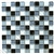 Glass Tile - 1X1 Mosaic Glass Tile - SD055 Black Blend - Glossy