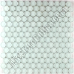 "Round Bubbles Glass Tile Mosaic - V06 White Frost 1"" Round Glass Bubbles Mosaic - Frosted"