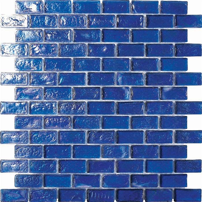 34 X 1 34 Glass Tile Brick Mosaic Gc005 1 Rippled Glass Dark Blue