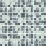 5/8 X 5/8 Glass Tile Mosaic - GM004 Frosted Rippled Glass - Gray Blend