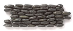 Stacked Standing River Rock Pebble Stone - SP 102 Eclipse - Interlocking River Rock Pebble Stone