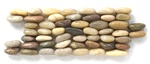 Stacked Standing River Rock Pebble Stone - SP 104 Rainbow - Interlocking River Rock Pebble Stone