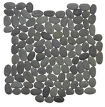 Tumbled River Rock Pebble Stone Mosaic - TT 102 Tahiti Interlocking River Rock Pebble Stone Mosaic - Tumbled