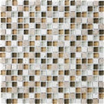 Eclipse Allure - 5/8 X 5/8 Blend of Natural Stone and Glossy Glass Tile