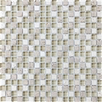 Eclipse Dunes - 5/8 X 5/8 Blend of Natural Stone and Glossy Glass Tile