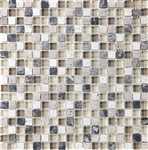 Eclipse Espresso - 5/8 X 5/8 Blend of Natural Stone and Glossy Glass Tile