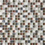 Eclipse Merlot - 5/8 X 5/8 Blend of Natural Stone and Glossy Glass Tile