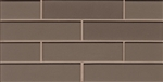 Manhattan Glass Subway Brick Mosaic - 2 X 8 Ash - Gloss Finish