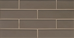 Manhattan Glass Subway Brick Mosaic - 2 X 8 Ash - Matte Frost Finish