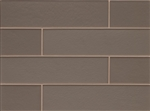Manhattan Glass Subway Brick Plank - 4 X 16 Ash - Matte Frost Finish
