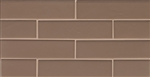 Manhattan Glass Subway Brick Mosaic - 2 X 8 Bittersweet - Matte Frost Finish
