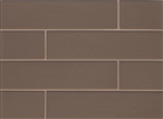 Manhattan Glass Subway Brick Plank - 4 X 16 Bittersweet - Matte Frost Finish