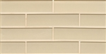 Manhattan Glass Subway Brick Mosaic - 2 X 8 Cashmere - Gloss Finsh