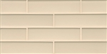 Manhattan Glass Subway Brick Mosaic - 2 X 8 Cashmere - Matte Frost Finsh