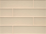 Manhattan Glass Subway Brick Plank - 4 X 16 Cashmere - Matte Frost Finish