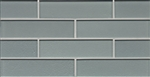 Manhattan Glass Subway Brick Mosaic - 2 X 8 Coast - Gloss Finish