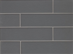 Manhattan Glass Subway Brick Plank - 4 X 16 Concrete - Matte Frost Finish