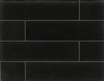 Manhattan Glass Subway Brick Plank - 4 X 16 Midnight - Gloss Finish