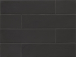 Manhattan Glass Subway Brick Plank - 4 X 16 Midnight - Matte Frost Finish