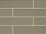 Manhattan Glass Subway Brick Plank - 4 X 16 Mint - Matte Frost Finish
