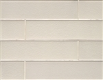 Manhattan Glass Subway Brick Plank - 4 X 16 Pearl  - Gloss Finish