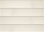 Manhattan Glass Subway Brick Plank - 4 X 16 Pearl  - Matte Frost Finish