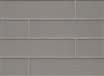 Manhattan Glass Subway Brick Plank - 4 X 16 Platinum - Matte Frost Finish