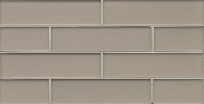 Manhattan Gl Subway Brick Mosaic 2 X 8 Silk Matte Frost Finsh