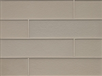 Manhattan Glass Subway Brick Plank - 4 X 16 Silk - Matte Frost Finish
