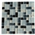 Crackle Glass Tile - Various Sized Crackled Glossy Glass and Frosted Glass Tile Mosaic - Gray Blue Blend