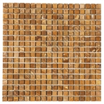 Marble Mosaic Tile - 5/8 X 5/8 Sahara Gold Mini Square Mosaic - Polished