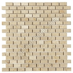 Marble Mosaic Tile - 5/8 X 1 1/4 Crema Marfil Mini Brick Subway Mosaic - Polished