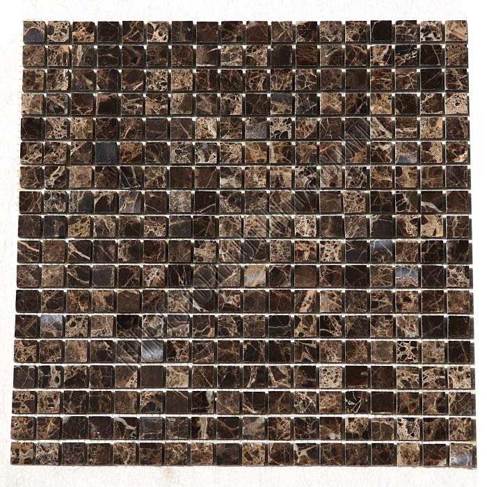Marble Mosaic Tile 5 8 X Emperador Dark Mini Square Polished