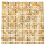 Stone Mosaic Tile - 5/8 X 5/8 Honey Onyx Mosaic - Polished
