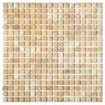 Stone Mosaic Tile - 5/8 X 5/8 Honey Onyx Mosaic - Tumbled