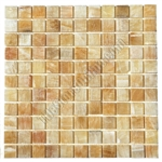 Stone Mosaic Tile - 1 X 1 Honey Onyx Mosaic - Polished