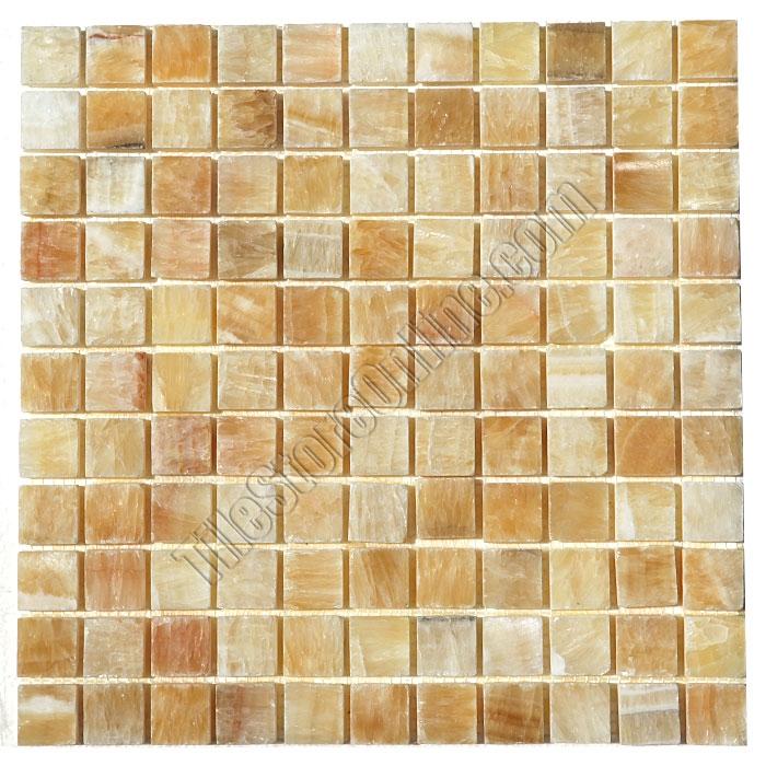 Stone Mosaic Tile 1 X Honey Onyx Polished