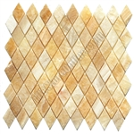 Onyx Rhomboid Mosaic Tile - Honey Onyx Diamond Mosaic - Polished