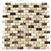 Marble Mosaic Tile - 5/8 X 1 1/4 Crema Marfil, Emperador Light & Dark Marble Mini Brick Subway Mosaic - Polished