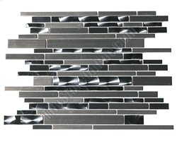 Metal Tile - Random Length Stainless Steel Metal Tile Mosaic - HB-YGS030-1 Metal Mosaic