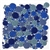 Round Bubbles Glass Tile Mosaic - Crystal Glass Bubbles Round Mosaic Glass Tile Royalty Blue Blend  - Glossy Glass