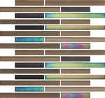 Elysium Venice - Borealis - Linear Glass Mosaic Mix of Gloss, Iridescent & Matte Frosted Strip Stick Glass - ODD LOT SUPER DEAL