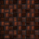 Nova Arte - 1X1 Rust - Deco MIx of Gloss and Frosted Glass Tile Mosaic