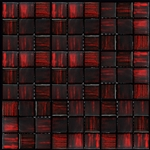 Nova Arte - 1X1 Cherry Red - Deco MIx of Gloss and Frosted Glass Tile Mosaic