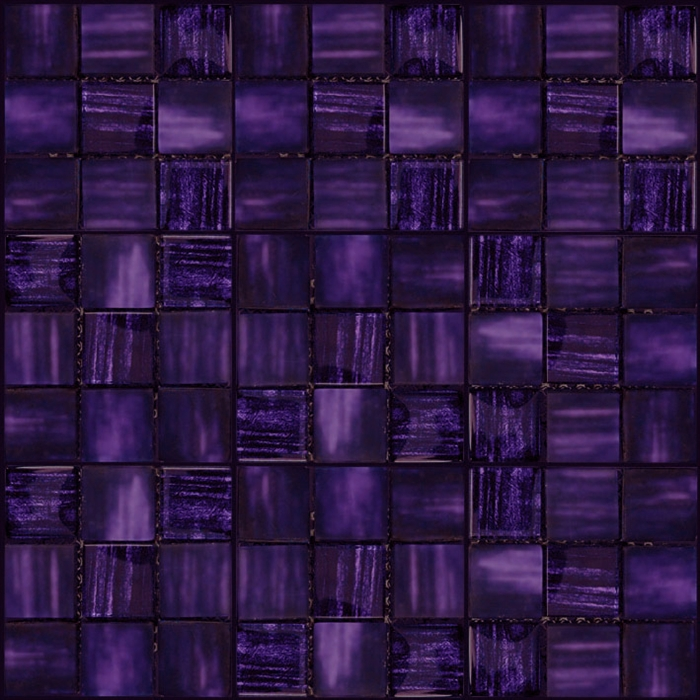 Arte 1x1 Purple Deco Mix Of Gloss And Frosted Gl Tile Mosaic